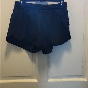 Women's black lululemon shorts